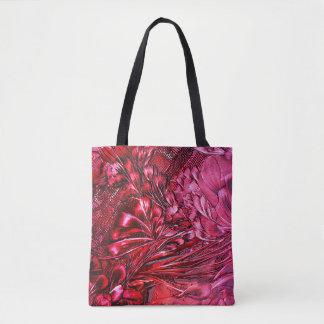 talk floral tote bag