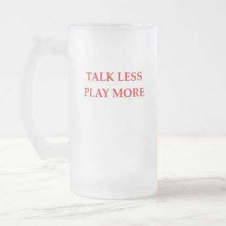 TALK FROSTED GLASS BEER MUG