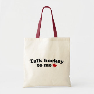 Talk Hockey To Me Tote Bag
