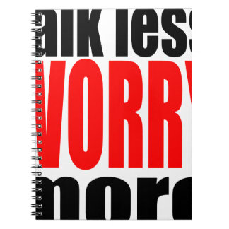 talk less more worry worrying worried family mothe notebooks