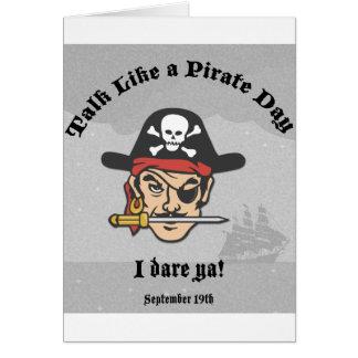 Talk like a Pirate Day! Card