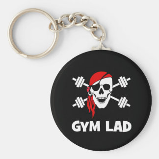 Talk Like A Pirate Day Gym Lad Basic Round Button Key Ring