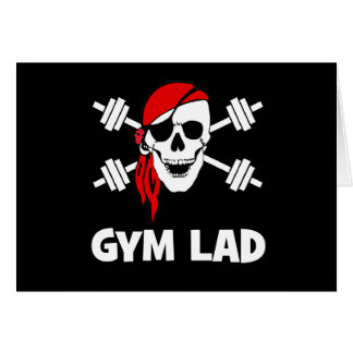 Talk Like A Pirate Day Gym Lad Greeting Card