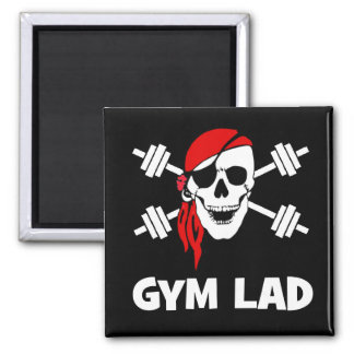 Talk Like A Pirate Day Gym Lad Refrigerator Magnet