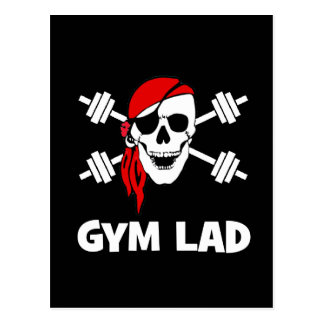 Talk Like A Pirate Day Gym Lad Postcard