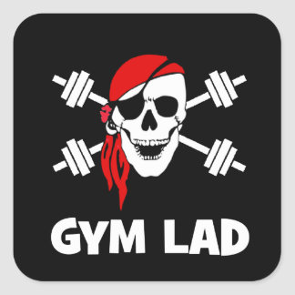 Talk Like A Pirate Day Gym Lad Square Sticker