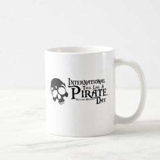Talk like a pirate day basic white mug