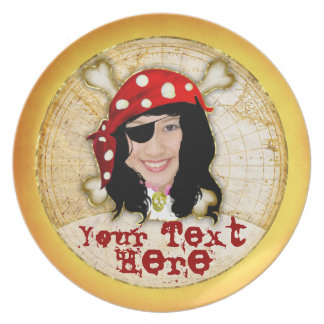 Talk Like a Pirate Day photo plate for women