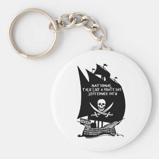 Talk Like A Pirate Day Ship Key Chains