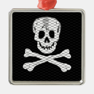 Talk Like a Pirate Day Silver-Colored Square Decoration