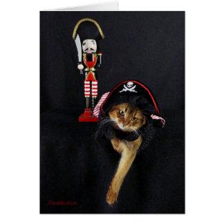 Talk Like a Pirate Day Somali Cat Greeting Card