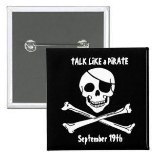 Talk Like a Pirate Day Square Button