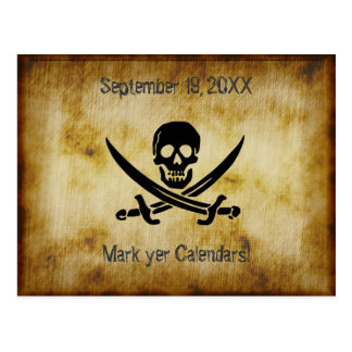 Talk Like a Pirate Party Invitation Postcard