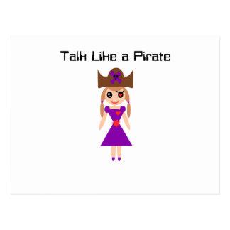 Talk Like a Pirate Postcard