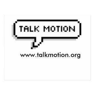 Talk Motion Postcard