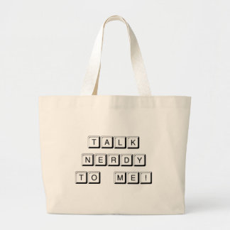 Talk Nerdy Canvas Bag