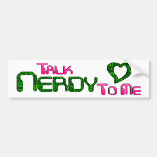 Talk Nerdy To Me Circuit Bumper Sticker