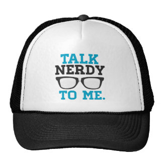Talk Nerdy to Me Funny Spectacles Cap