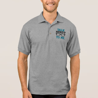 Talk Nerdy to Me Funny Spectacles Polo Shirt