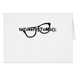 Talk nerdy to me glasses greeting card