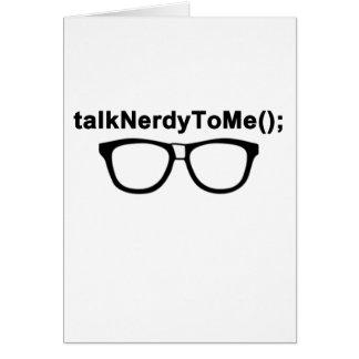 Talk Nerdy to me Glasses Greeting Card