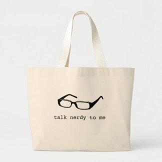 talk nerdy to me jumbo tote bag