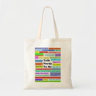"""Talk Nerdy to Me"" tote Budget Tote Bag"