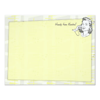 Talk of the Town Personalized Flat Note Cards 11 Cm X 14 Cm Invitation Card