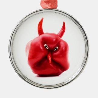 Talk Pepper Devil Silver-Colored Round Decoration