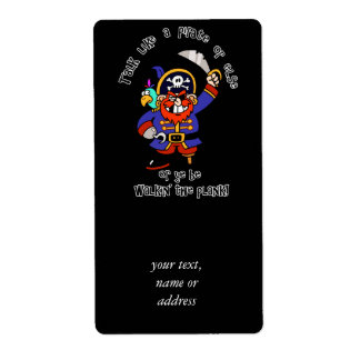 Talk Pirate or Walk The Plank - It's Pirate Day Shipping Label