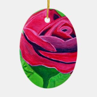 Talk Rose2 Ceramic Oval Decoration