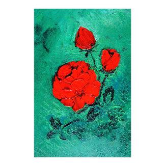 talk rose stationery