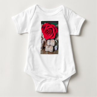 TALK ROSE with cork Baby Bodysuit