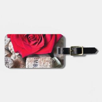 TALK ROSE with cork Bag Tag