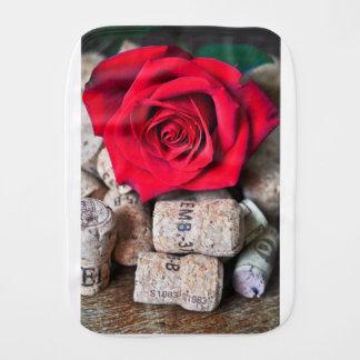 TALK ROSE with cork Burp Cloth