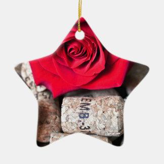 TALK ROSE with cork Ceramic Ornament