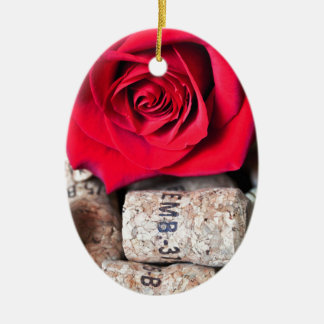 TALK ROSE with cork Ceramic Oval Decoration