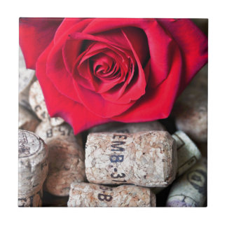 TALK ROSE with cork Ceramic Tile