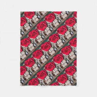 TALK ROSE with cork Fleece Blanket