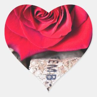 TALK ROSE with cork Heart Sticker