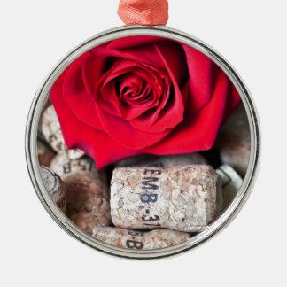 TALK ROSE with cork Metal Ornament
