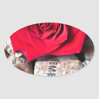 TALK ROSE with cork Oval Sticker