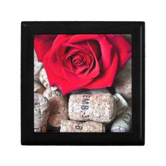 TALK ROSE with cork Small Square Gift Box