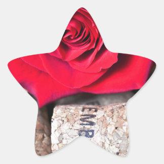 TALK ROSE with cork Star Sticker