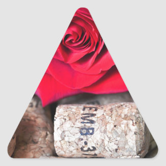 TALK ROSE with cork Triangle Sticker