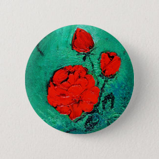 talk roses 6 cm round badge