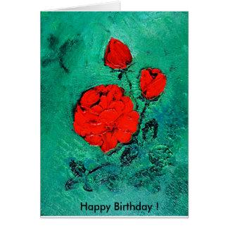 talk roses     Happy Birthday! Card