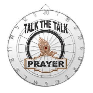 Talk the talk prayer dartboard