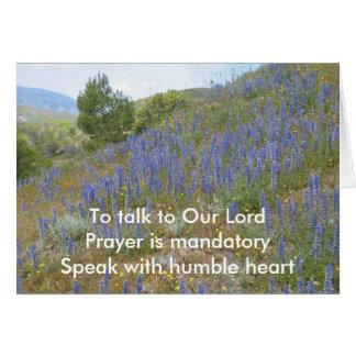 Talk To Lord Haiku Card