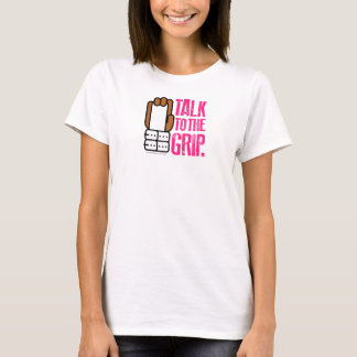 TALK TO THE GRIP Gymnast Brown Hand T-Shirt